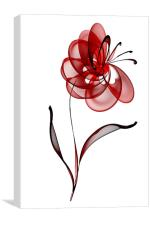 Vector Flower, Canvas Print