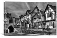 The Lord Leycester Hospital, Warwick, England, Canvas Print