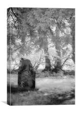Sunny Day In the Churchyard - Infrared, Canvas Print