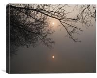 Twin suns, Canvas Print