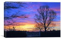 Suffolk Sunrise, Canvas Print