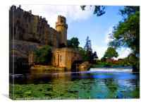 CASTLE AND WIER, Canvas Print