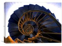 DOWNWARD SPIRAL, Canvas Print