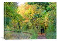 AUTUMN CANAL WALK, Canvas Print