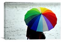 SNOWY RAINBOW, Canvas Print
