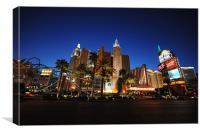 New York New York Las Vegas, Canvas Print