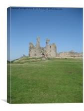Dunstanburgh Castle Northumbreland, Canvas Print