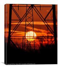 Dawn Through Pylons, Canvas Print