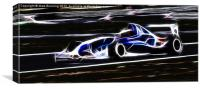Electric car racing, Canvas Print