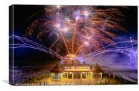 Cromer fireworks, Canvas Print