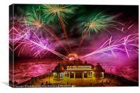 Cromer fireworks 2, Canvas Print