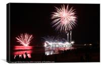 Cromer Fireworks 5, Canvas Print