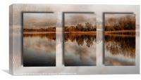 Thompson Water Panoramic triptych, Canvas Print