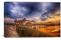 A storm brewing over Cromer Pier, Canvas Print