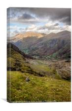 A view from snowdon, Canvas Print