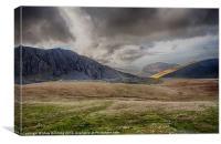 Storm brewing accross Snowdonia, Canvas Print