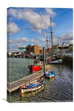 Wells next sea harbour portrait, Canvas Print
