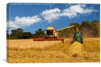 Harvesting the crop, Canvas Print