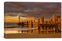 Walcot Beach, Canvas Print