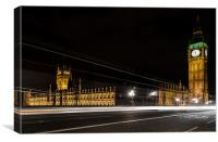 Parliament at night, Canvas Print