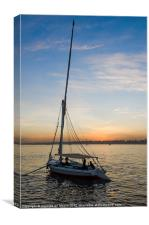 Navigating on Nile's sunset, Canvas Print