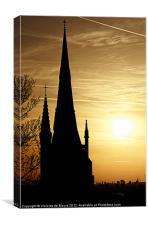 The church and the sun, Canvas Print