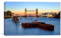Tower Bridge at sunrise, Canvas Print