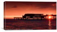 Pier Sunrise, Canvas Print