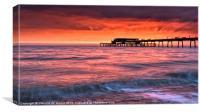 Pier Sunrise III, Canvas Print