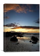 Ayrshire beach sunset, Canvas Print