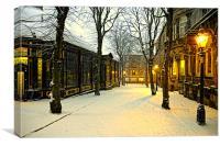 Winter Boulevard, Canvas Print