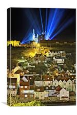 Whitby Abbey on a Gothic Victorian Night, Canvas Print