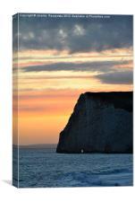 Sunset at Durdle Door Beach, Canvas Print