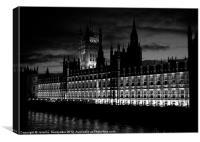 Parliament, Canvas Print