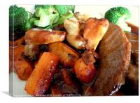 beef roast dinner, Canvas Print