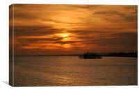sunset brighton old pier, Canvas Print