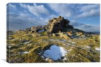 Wintry West Mill Tor, Canvas Print