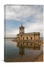 Normanton Church Rutland Water, Canvas Print