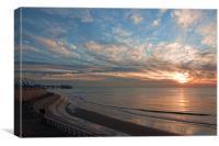 Sunset Blackpool, Canvas Print