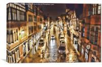 Chester in the rain, Canvas Print