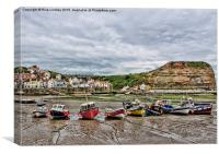 Low Tide Staithes, Canvas Print