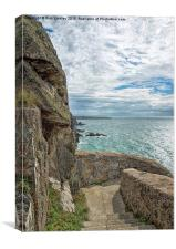 Steps to South Stack Lighthouse, Canvas Print