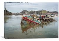 The old Wreck Conwy, Canvas Print