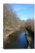 Huddersfield Narrow Canal, Linthwaite, Canvas Print