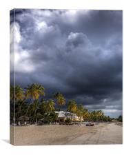 Summer Storm Over Sandals, Canvas Print