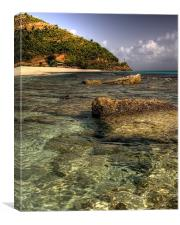 Caribbean Beach, Canvas Print