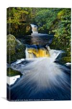 Snow Falls Ingleton, Canvas Print