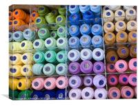 Threads - circles and squares, Canvas Print