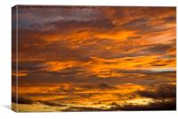 Sky Aflame, Canvas Print