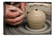 The Potters Wheel, Canvas Print